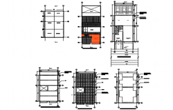 Project housing with metallic structure detail dwg file