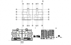 Project multi-family housing high-density plan detail dwg.