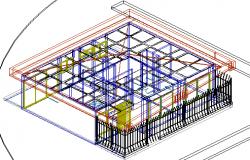 Project single housing 3 d plan detail dwg file