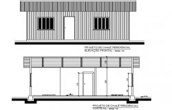 Project wooden house in brazil detail dwg file