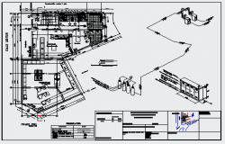 Propane liquefied gas installation in a retail store design drawing