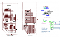 Property for residential area ceiling plan with structure view dwg file