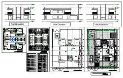 Proposed Duplex layout plan design drawing