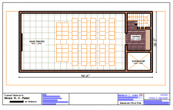 Proposed Layout of Home theater plan,basement of villa's design drawing