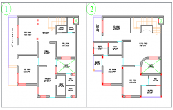 Proposed Layout plan of Bungalow design drawing