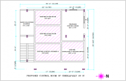 Proposed control room plan  of  SS IV for office dwg file
