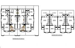 Proposed ground floor and first floor plan details of house dwg file