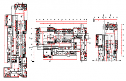 Proposed layout design drawing of Big health center design drawing