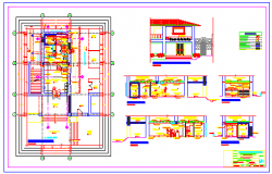 Proposed layout design of bank branch office
