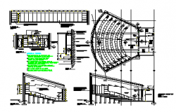 Proposed layout of Auditorium layout design drawing