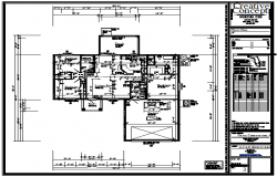 Proposed layout of Bungalow design drawing