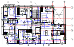 Proposed layout of apartment design drawing