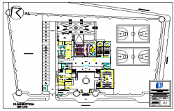 Proposed layout of court design drawing