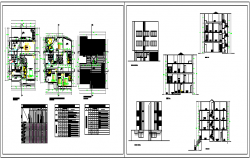 Proposed layout plan of Apartment design drawing