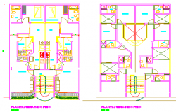 Proposed layout plan of Multi family housing design drawing