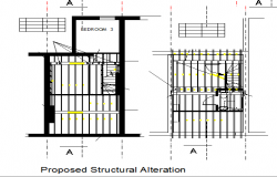 Proposed structural alteration of house dwg file