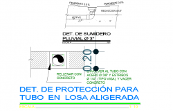 Protection detail for lightweight slab tube layout file