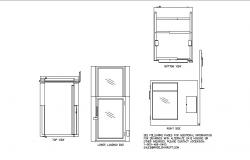 Protege series wheelchair lift model cad drawing details dwg file