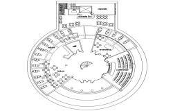 Public Library Plan DWG File