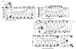 Public Toilet Floor Plan CAD Drawing