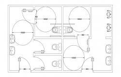 Public Toilet Layout Plan