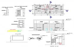 Public Toilet Plan And Section CAD Drawing
