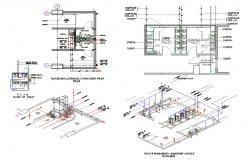 Public Toilet Plan With Isometric View DWG File