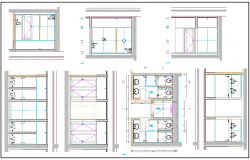 Public Toilet layout plan dwg file