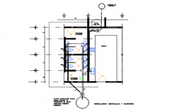 Public W.C plan detail dwg file