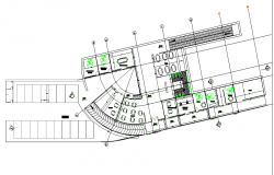 Public library detail floor plan.