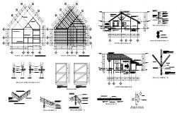 Public sanitary section and construction cad drawing details dwg file