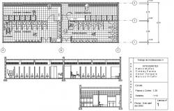 Public toilet center line plan and elevation detail dwg file