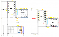 Public toilet plan detail dwg file