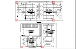 Public toilet washroom plan view detail information, sanitary view dwg file