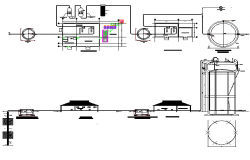 Pump plan detail dwg file