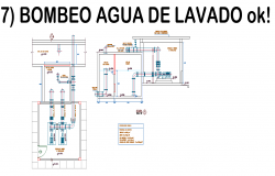 Pumping wash water plan detail dwg file