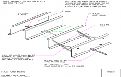 Purlin braces struts roof structure dwg file