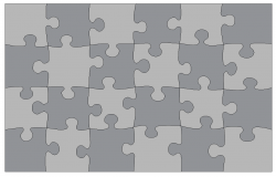 Puzzle game detail 3d model autocad file