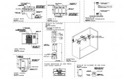 Quantitative for central gas installation details of hotel building dwg file