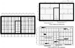 Quincho plan detail dwg file