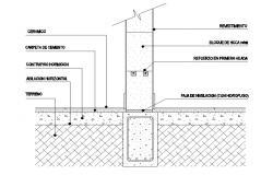 RCC construction blocks CAD drawing