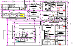 Radio Center Architecture Layout Plan and Elevation dwg file