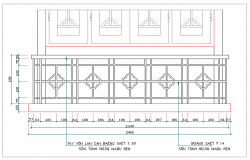 Railing design dwg file