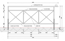 Railing details of staircase architecture project dwg file