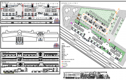 Railway Station Project dwg file