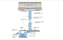 Rainwater storage details drawing in cad files