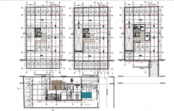 Ramp plan dwg working detail dwg file