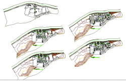Re-creation and commercial complex floor plan details dwg file