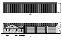 Rear and front view of house dwg file