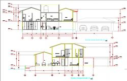 Recidential house cut DWG